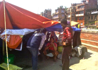 Rapid Assessment of Sanitation at camp sites, Bhaktapur
