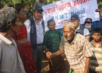 Distribution of Relief Materials in Nuwakot