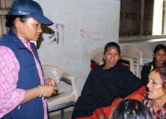 Psychosocial support to the families affected by earthquake in Makawanpur