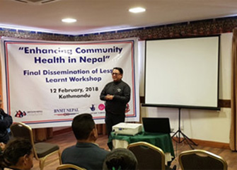 Dissemination of Enhancing Community Health in Nepal Project