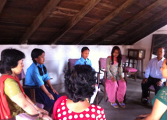 First Psychosocial Counselling session in BalMandir Primary School, Bhaktapur
