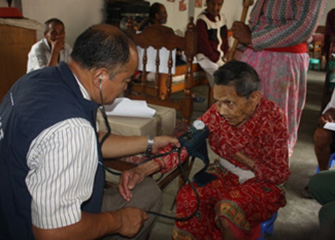 Free Health Camp in Himalaya Old Age Home