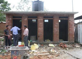 Progress on Construction of Community Toilet