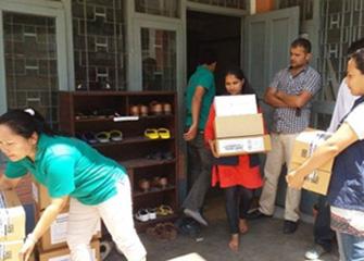 Handing Over Essential Medicines For Gorkha
