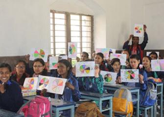 Psychosocial Team visited Shanti Nikunja School for Art Counselling
