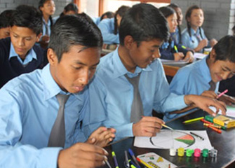 Art Counselling in Basu Higher Secondary School, Bhaktapur