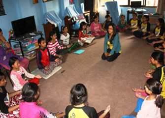 A follow up session on psychosocial counseling at Paropakar Orphanage Girls Hostel