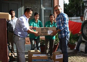 Handing over essential Medicines to Neuro Hospital, Bansbari