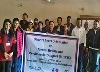 District level Orientation on Mental Health and Psychosocial Support Services (MHPSS) in Sindhupalchowk