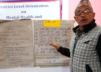 District level Orientation on Mental Health & Psychosocial Support Services (MHPSS) in Nuwakot