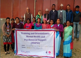MHPSS Orientation to health professionals and community leaders including FCHVs in Badegaun, Sindhupalchowk