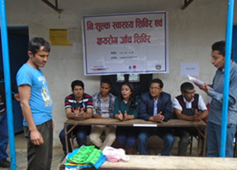 Free Health Camp including TB microscopic Camp in Balkumari, Nuwakot