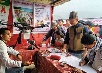 Drone and TB awareness in Pyuthan Swargadwari Trade and Exhibition Expo 2020